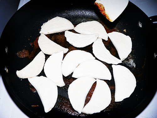 frying perogies