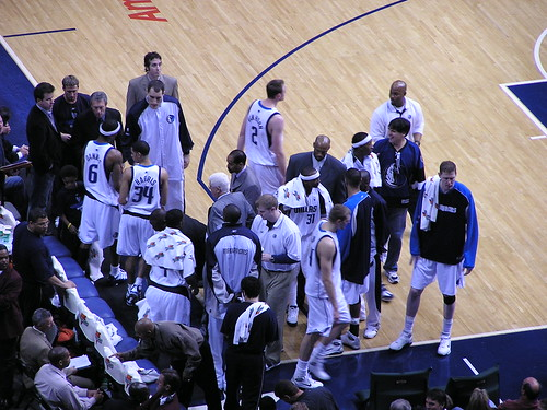 Dallas Mavericks bench