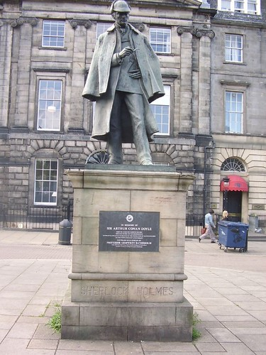Sherlock Holmes Statue or Monument in Edinburgh, England