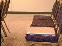 "The Mac is the loneliest piece of equipment in the room. Session 1B, ""What's Black & White and Read All Over."" 2007 University Writing and Research Symposium. The George Washington University. Saturday, April 21"