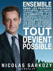 (Awielie) Tags: france election europe sarkozy ump gros politic affiche sarkosy droite connard prsidentielles sarkoland grosconnard