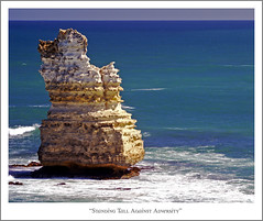 Standing Tall Against Adversity (fotofantasea) Tags: ocean travel blue light sea orange brown white nature yellow composition landscape grey rocks surf waves shoreline australia roadtrip victoria coastline 37 greatoceanroad twelveapostles ambience naturesfinest blueribbonwinner flickrsbest anawesomeshot superbmasterpiece beyondexcellence auselite 3rdapcomp tup2