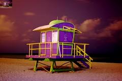 Life Guard Stand at Night (keylargo_diver) Tags: night florida miami nikond50 southbeach sobe miamibeachfl life