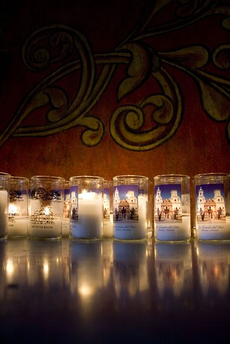 Candles in San Xavier