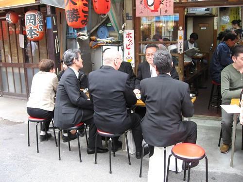 Tokyo Salary men Eating Street Food