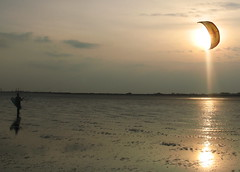Dublin Kite Surfer Sunset