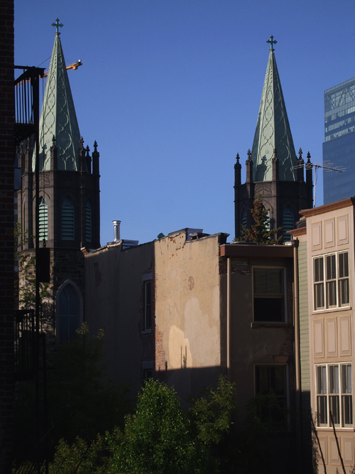 church spires, Jersey City