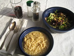 Brown Rice Risotto with salad