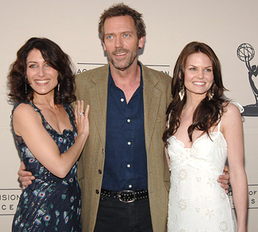 Lisa Edelstein, Hugh Laurie and Jennifer Morrison