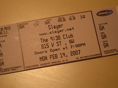 Slayer Ticket