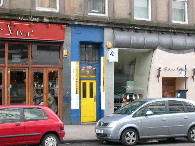 Glasgow Buddhist centre front door