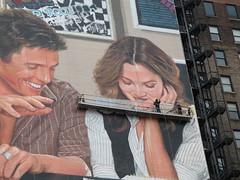 Painting the ads (leeno) Tags: new york nyc newyorkcity newyork painting movie poster hugh grant ad drew scaffold barrymore