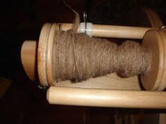 Llama fiber spun into yarn