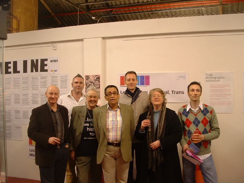 The speakers at the launch of LGBT History In Focus