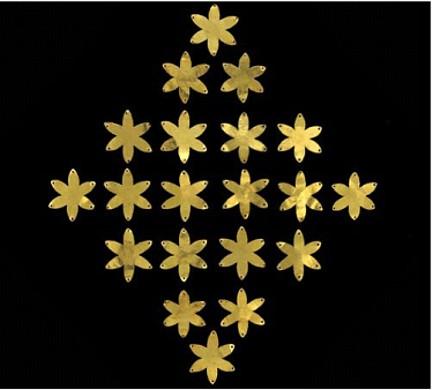 Afganistán placas oro estrellas 6 puntas