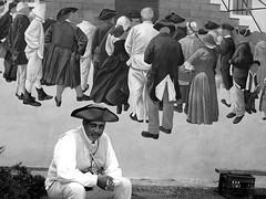 Trenton, New Jersey (Bravo213) Tags: new people blackandwhite art hat wall sitting united hats super cap sit hero superhero winner jersey getty fedora states bonnet seated cy bigmomma gamewinner cy2 challengeyouwinner 3waychallenge 4votes bravo213 cy2winner bwtrophied thechallengefactory fotocompetition fotocompetitionbronze tmoacawardwinner herowinner