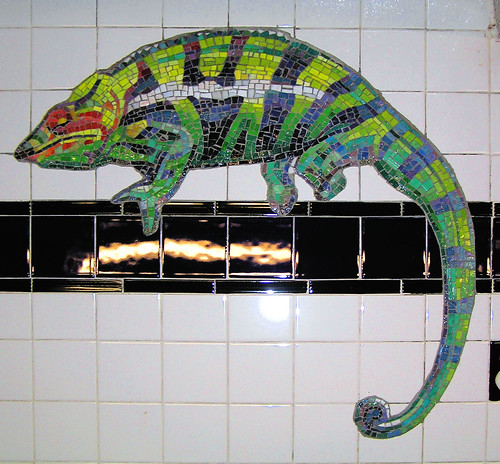 Museum of Natural History underground station - camelion mosaic
