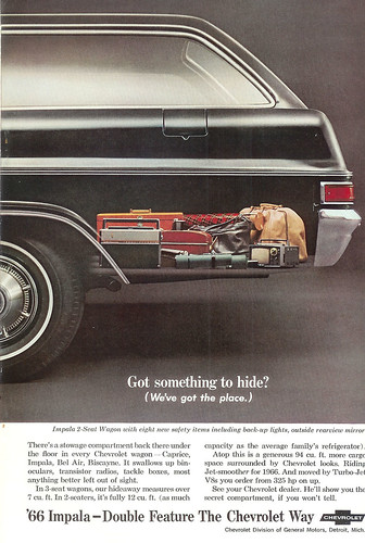 Vintage Ad #160 - Smuggling Room in an '66 Impala?