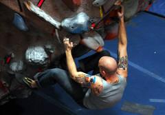 the higher they climb... (dogfaceboy) Tags: tattoo skulls skull head bald heads climber climbinggym noggin skulltattoo noggins