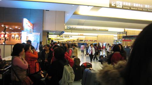 大清早就到機場了,這時候還不到五點吧?