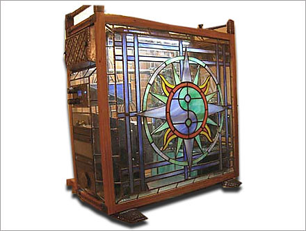 stained glass pc case
