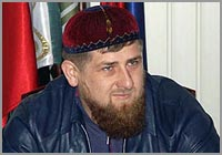 Chechen warlord Ramzan Kadyrov, acting president of Chechnya
