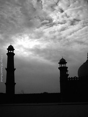 A day at Badshahi Mosque (Engineer J) Tags: bw heritage history architecture j photo all pics minaret junaid mosque m dome domes sama masjid edit rashid paksitan satta uet engr mugha juanid lahroe nadshahi virtualsetbadshahimosque