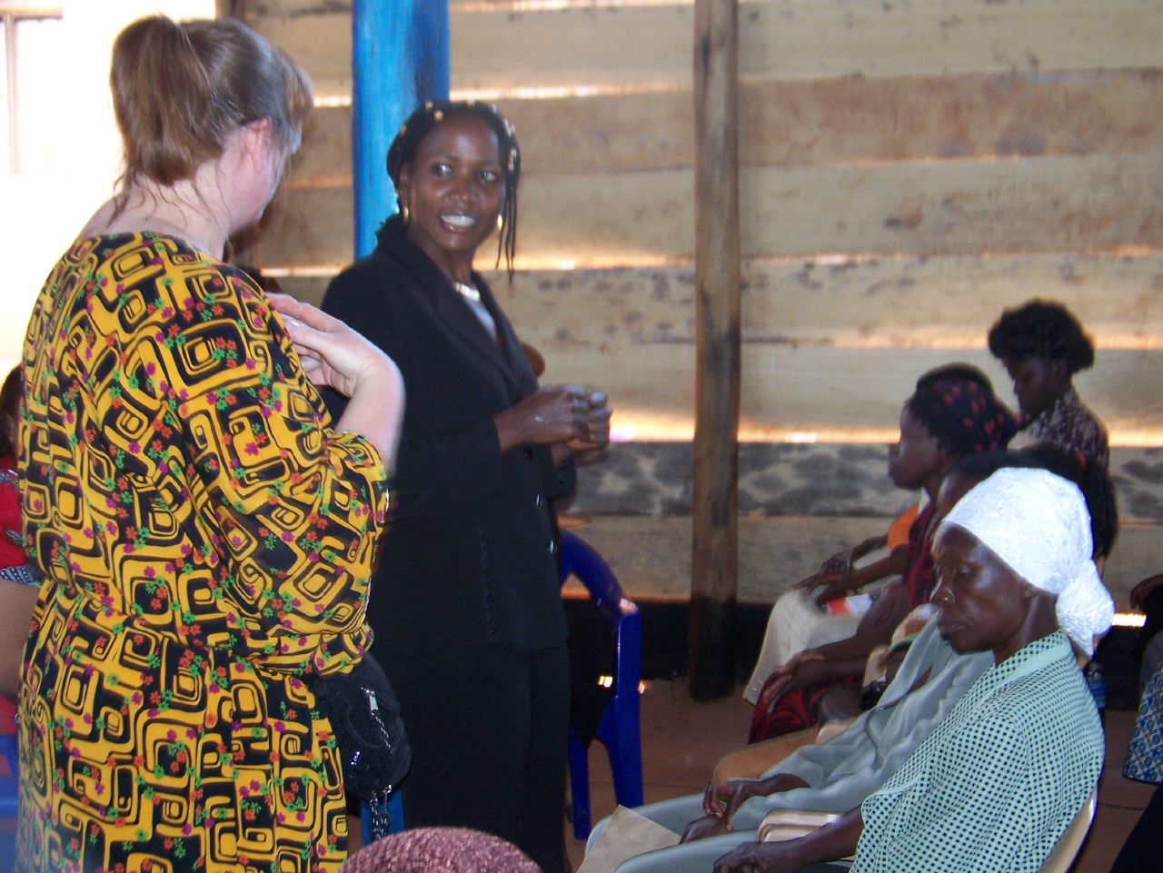 Sandi ministering through an interpreter during a ladies Sunday School class in February 2007.