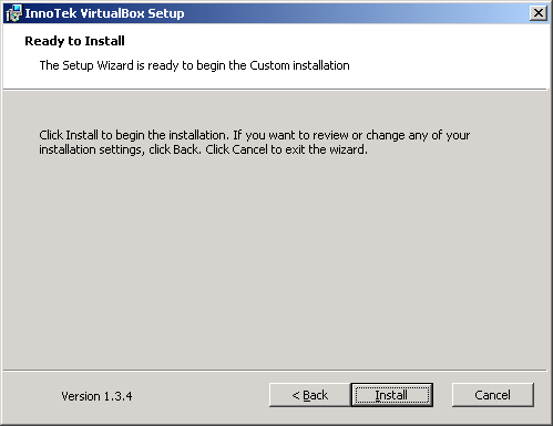 VirtualBox - installazione - install