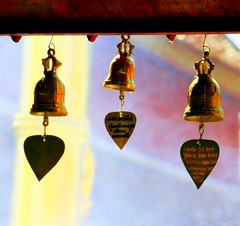 temple bells.. (areyarey) Tags: old travel summer detail art history metal bronze bells asian thailand religious temple gold golden design ancient bravo colorful asia searchthebest symbol bell outdoor antique lol decorative buddha background buddhist south traditional religion decoration culture style buddhism ring east mai ornament luck thai hanging spirituality tradition oriental spiritual wat hang chime dingaling sweetdreams blueribbonwinner magicdonkey instantfave xoxoxoxoxox smilingtoyou artlibre areyarey aplusphoto nocosmicgoophere adinnerjacketandonlyadinnerjacketo goodmorningbells