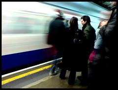 Blurred Commute (edwardkb) Tags: cameraphone longexposure london bulb train moblog subway europe sonyericsson transport tube eu cybershot slowshutter nightmode oxfordcircus k800i ruvjet edwardbarnieh