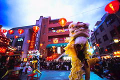 #02 lion dance (moaan) Tags: leica chinatown kobe leicam7 2007 m7 fujiprovia100f chinesefestival rdpiii  voigtlandersuperwideheliar15mmf45 gettyimagesjapanq1 gettyimagesjapanq2