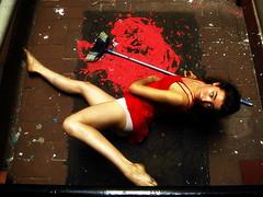 Red series 1 (melancholik) Tags: red dance rojo ballerina bodylanguage carla broom escoba