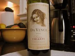 last night's dinner wine