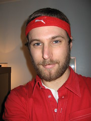 red-shirt goes beard-o