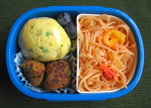 Speedy scrambled egg lunch for toddler お弁当