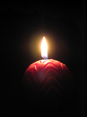 Halo around candle flame