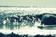 Hey Joe - Surfing at Freshwater Bay, Isle of Wight (s0ulsurfing) Tags: ocean uk light sea england beach water beautiful silhouette sparkles turn canon wow point island bay coast photo amazing flickr surf waves action britain surfer gorgeous acid wave joe ps surfing spray sparkle reflected photograph foam isleofwight coastline breakers rollers reef sparkly swell isle sparkling magnifique 2007 phenomenal freshwaterbay s0ulsurfing anawesomeshot coastuk jasonswain