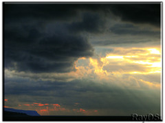 Dramatic Sunset (RayDS) Tags: travel sunset sea sky italy sun colors clouds capri photo ray sony sorrento dsc hdr h5 abigfave rayds