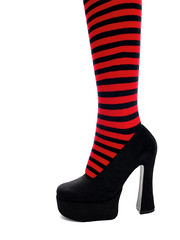 Stripes (Rune T) Tags: red black wow shoe close quality stripes leg stripey simpleisgood