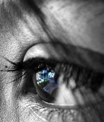 when there should be dreams in their eyes (shubhangi athalye) Tags: blue bw india macro beauty buildings reflections eyes searchthebest adolescent pratibimb nazar rishika abigfave impressedbeauty superbmasterpiece pratiksha dreamsinmyeyes aankhe skyscraperskyline