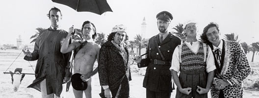 Monty Python on the beach