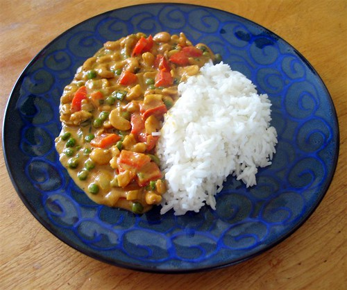 Cashew Curry with Rice