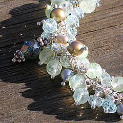 Necklace - (GIFTED) crystal, fresh water pearl, green quartz, aquamarine, bali silver (misofrappacino) Tags: silver crystal jewelry bead pearl sterling beaded gem gemstone
