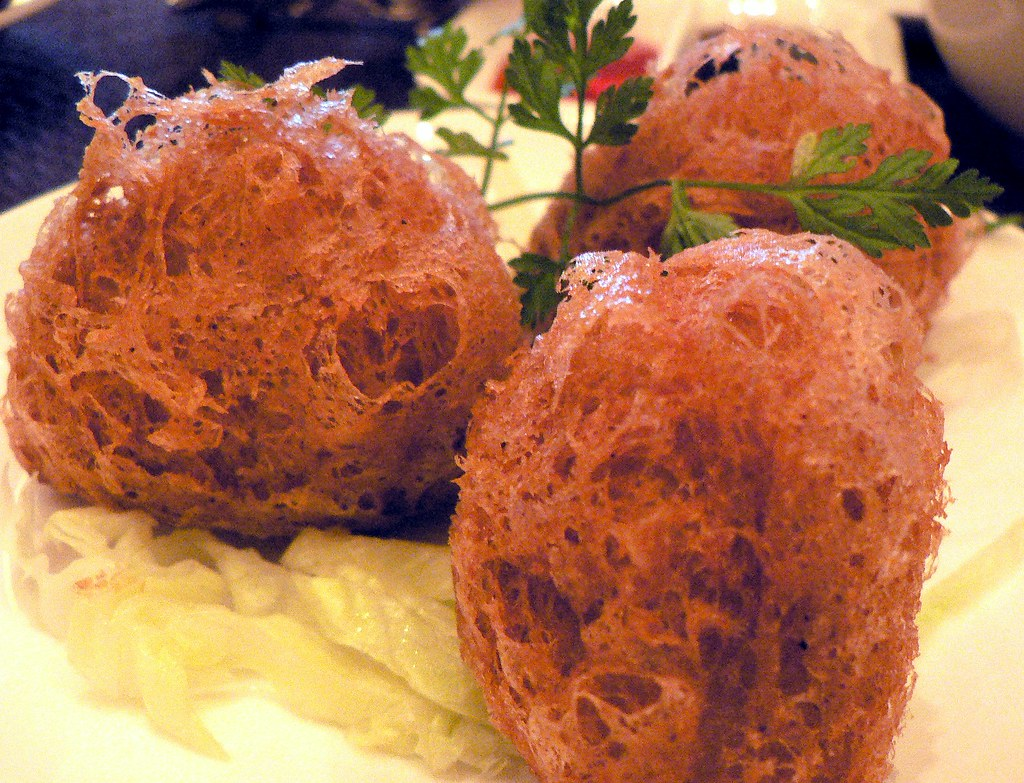 Yam Croquettes with Minced Chicken and Mushroom