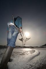 intertidal--7 (julian winslow) Tags: badman winslow isleofwight island2000 intertidal sculpture fish metal totland wight sea flash impressedbeauty