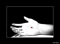 He was (Mikel Belza Guede) Tags: bw cutout death blood hand bn mano noise ruido estigmas