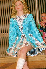Me dancing! (catiexbear) Tags: blue irish dance open dress curls full wig irishdancing stepdancing irishdance heinzman irishstepdancing