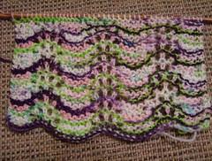 Lime N Violet scarf