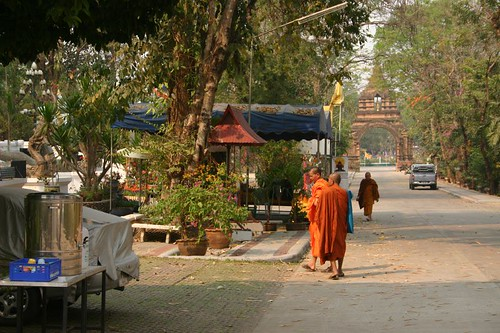 Temple area outside Chiang Saen...